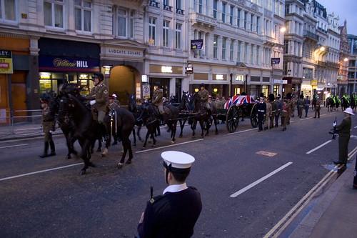 The horse drawn gun carriage
