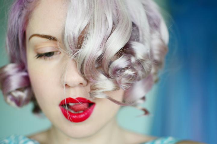 lilac curls pin curl set b