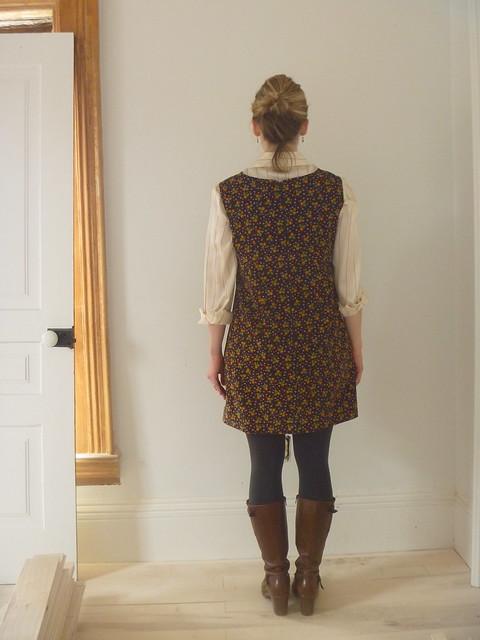 colette laurel jumper dress back