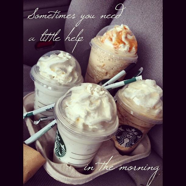 #InstaSize #gmorning #goodmorning #starbucks #frap #vanilla #wakeup #espresso #caramel