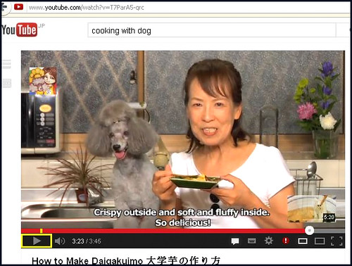 """""""Cooking with Dog"""" - Japanese cooking show on YouTube"""