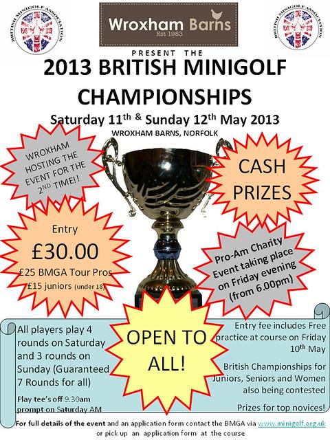 BMGA BRITISH MINIGOLF CHAMPIONSHIPS