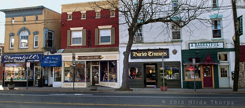 Sayville's old Thornhill pharmacy and main street by Alida's Photos