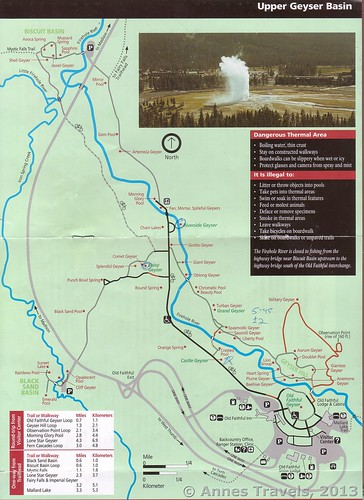 Slightly newer trail map of the Upper Geyser Basin, Yellowstone National Park, Wyoming