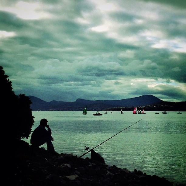 Contemplating. || #fisherman #silhouette