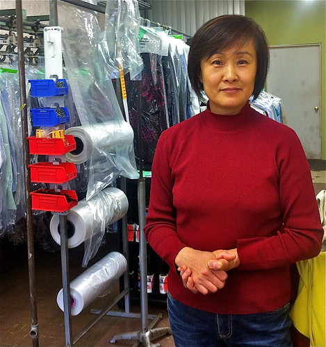 Korean laundress  wary yet hopeful about Koreas