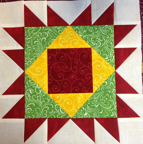 Jingle Belle pieced block #2