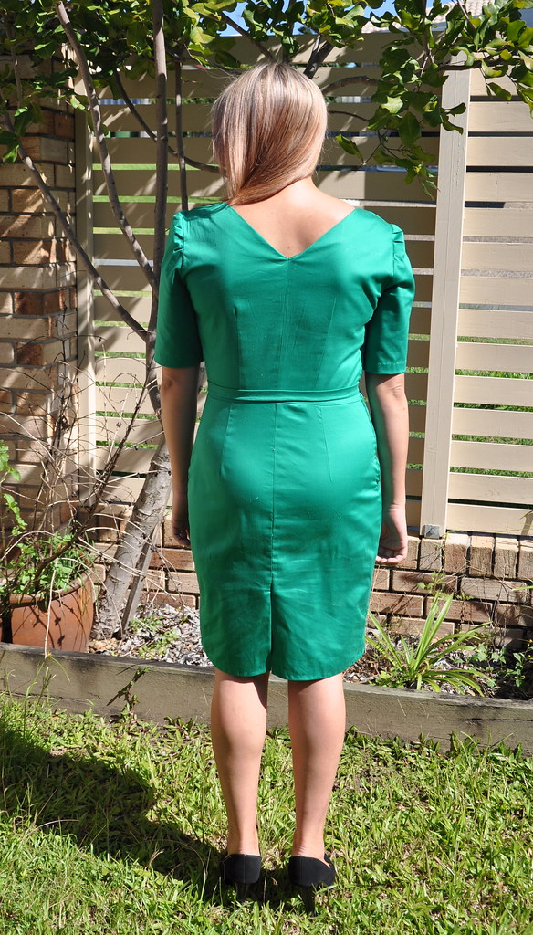 julia bobbin mad men challenge joan green sheath wiggle dress