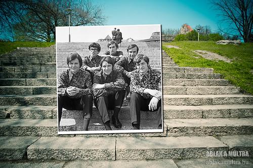 Budapest, I. Budai Vár, a Ferdinánd Kapuhoz vezető lépcső. Kék Csillag együttes fortepan_24008