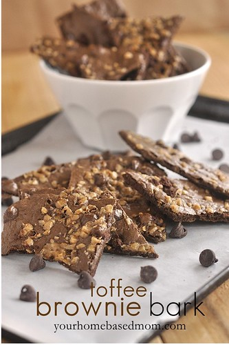 Toffee Brownie Bark from Your Homebased Mom