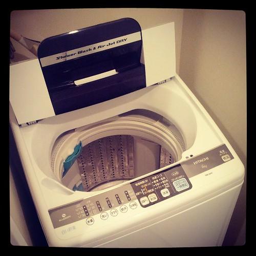 洗濯機交換完了。異音なくなった。やっぱおかしかったらしい。