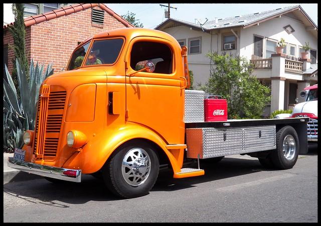 coe gmc truck 1938 orange flickr