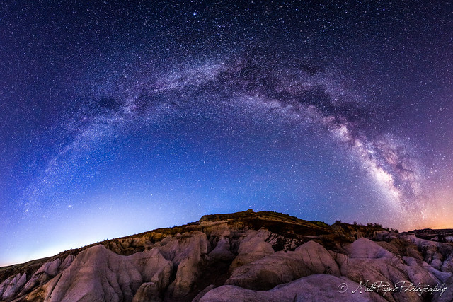 Milky Way Panoramic at Paint Mines