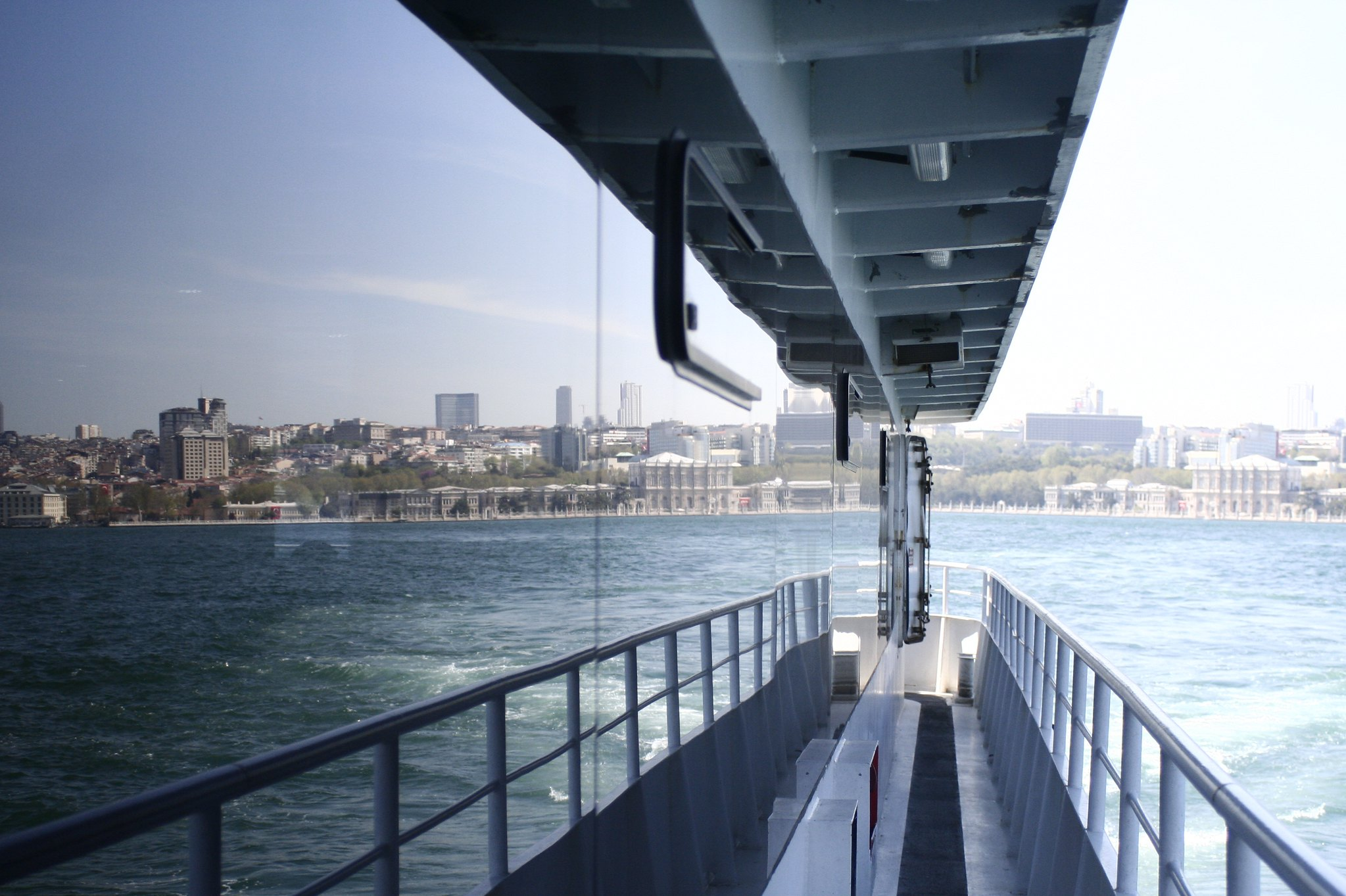 On a boat from Beşiktaş to Üsküdar.