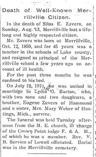 S.E. Zuvers obituary