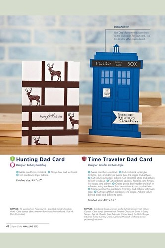 Tardis card as seen in Paper Crafts Magazine