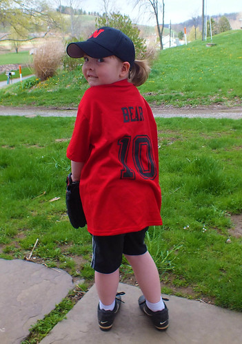 Lucy Bear is off to t-ball