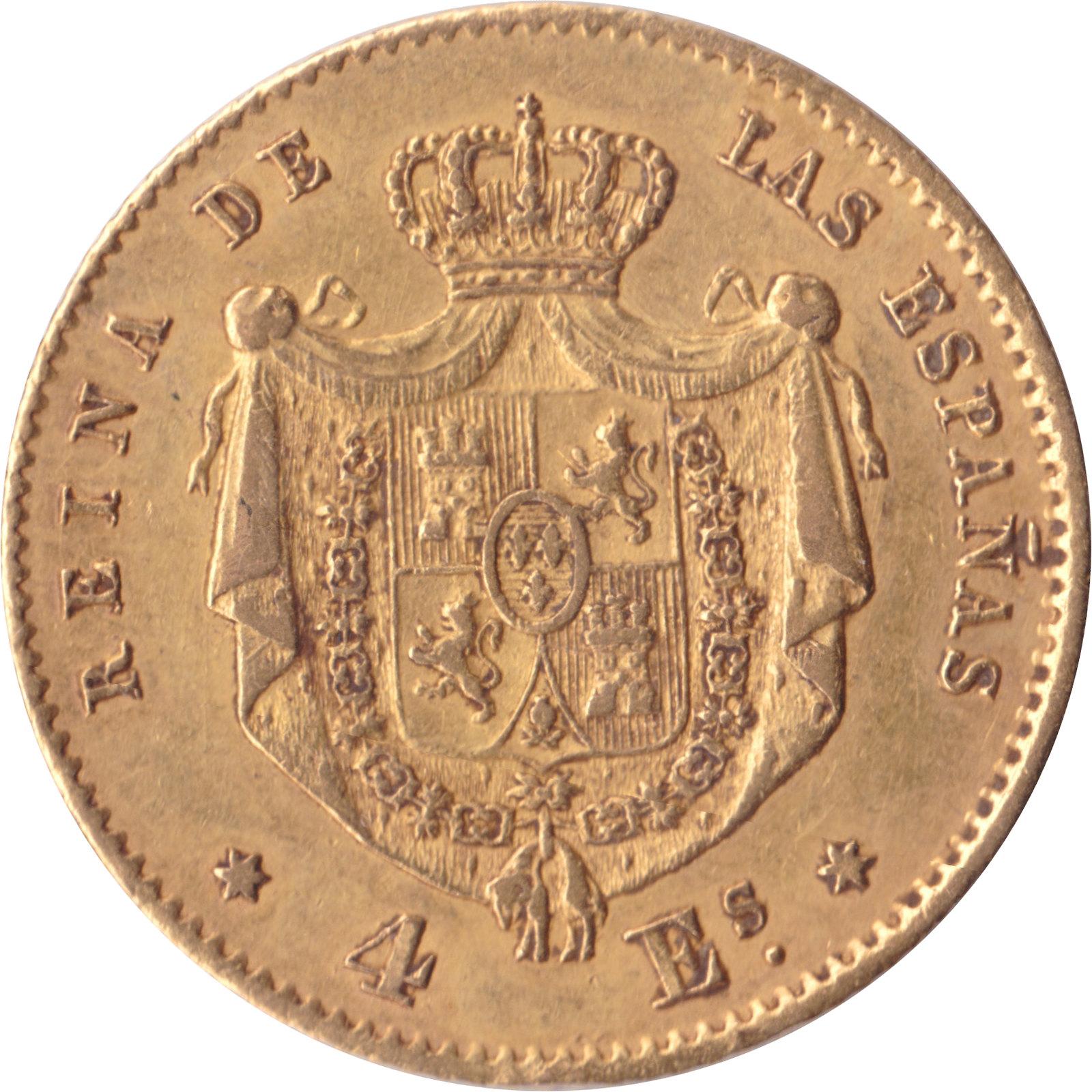 4 Escudos Isabel II 1865 (subasta Cayon 24 abril)  8682486189_a2526f8840_h