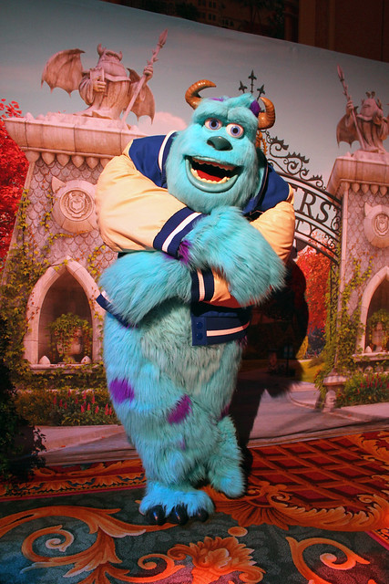 Monsters University meet-and-greet with Mike and Sulley