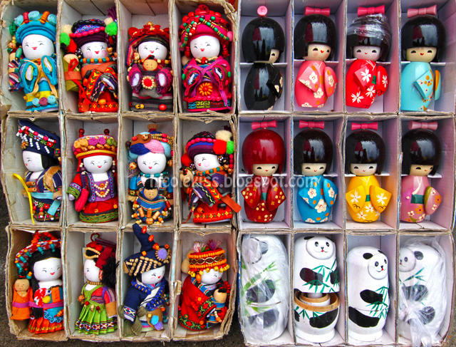 Colorful dolls, Beijing, China