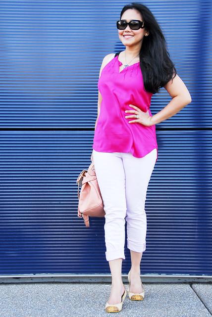 pink jbrand - chanel - kors flats - mulberry alexa3