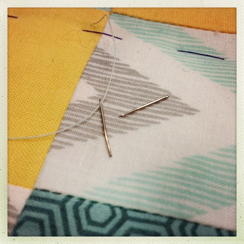 First broken needle from hand quilting. CRAFTS.