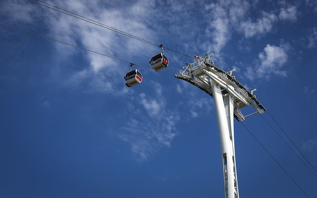 Cable Cars Over The Thames