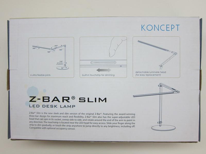 Koncept Z-Bar Slim LED Desk Lamp - Box Back