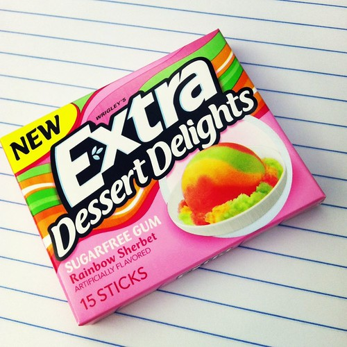 Sherbert dessert gum