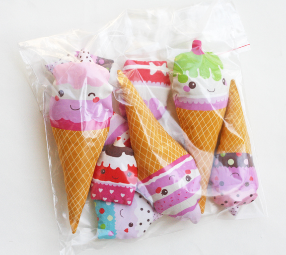 Soft fabric play food - ice creams