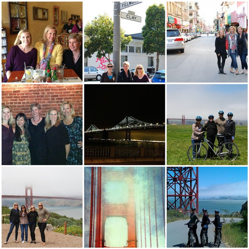 sf girls' weekend collage