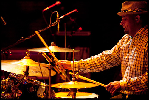 Drummer for Ike Stubblefield at WWOZ's Piano Night.  Photo by Ryan Hodgson-Rigsbee www.rhrphoto.com