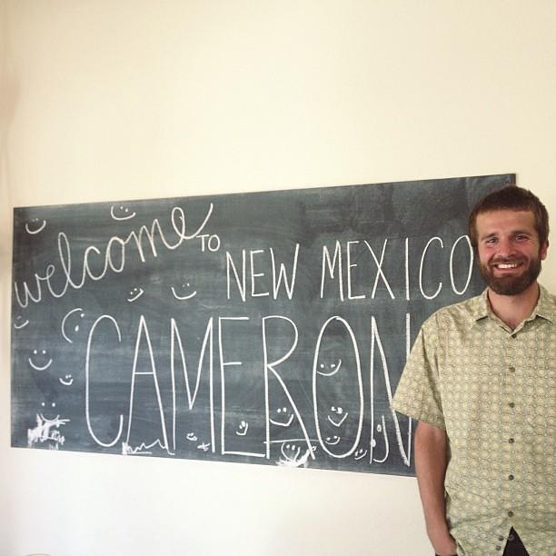 chalkboard art for @cameron_jimmo #wearealittlehappy