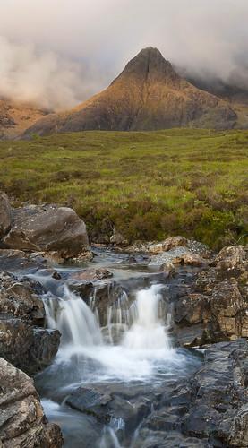 cloud mountain skye river evening scotland waterfall stream isleofskye beck hill scottish burn gill cascade eveninglight cuillin fairypools sgurranfheadain riverbrittle