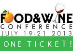 Win a ticket to the upcoming Food and Wine Conference