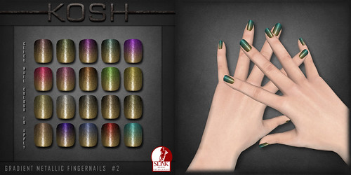 KOSH- SLINK AV ENHANCEMENT METALLIC GRADIENT FINGERNAILS #2 PIC