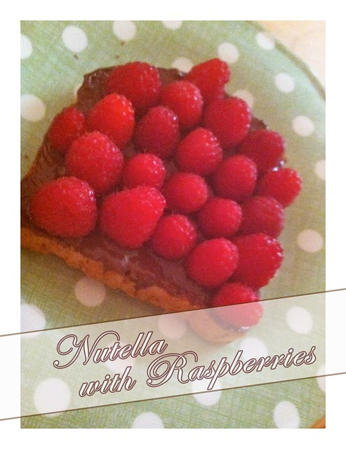 Nutella with Raspberries