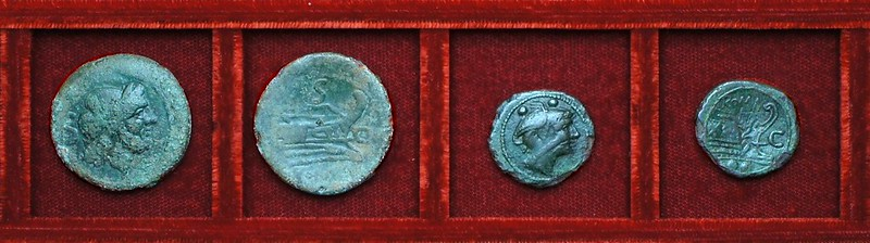 RRC 063 C Cornelia semis, overstrike sextans, Ahala collection, coins of the Roman Republic