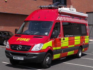South Yorkshire Fire & Rescue Service Mercedes Sprinter Command Support Unit