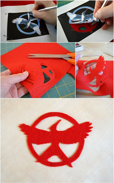 Mockingjay Logo Felt Silhouette How-To