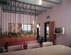 Interior view of a motel suite in Florida