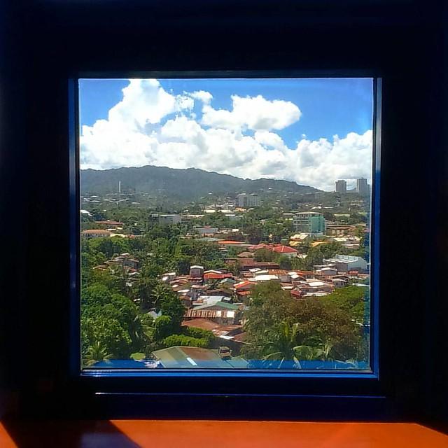 #window to the other side of #cebu #adventuresofthetravellingshades #Pinoy #green #hotel