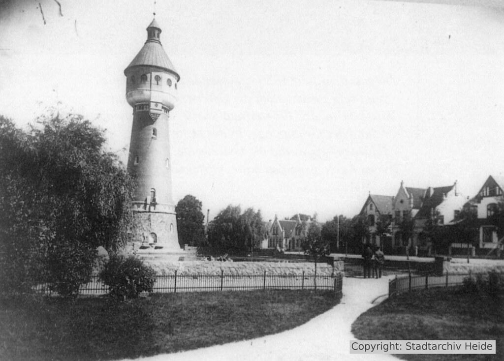 Wasserturm im Jahr 1910