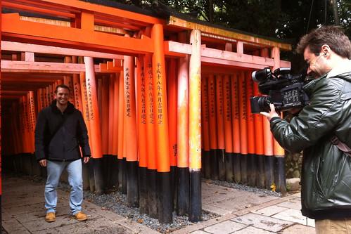 En Inari durante el rodaje