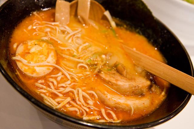 Spicy tonkotsu ramen, Jin Ramen