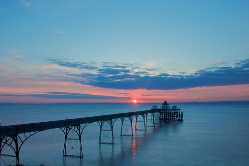 Clevedon Pier Sunset by James Woodward