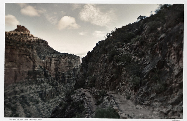 Bright Angel Trail, Grand Canyon - Google Maps Redux