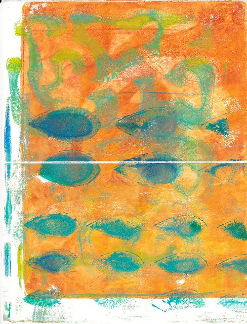 orange-turq gelli labels