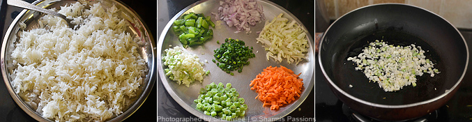 How to make veg fried rice - Step1