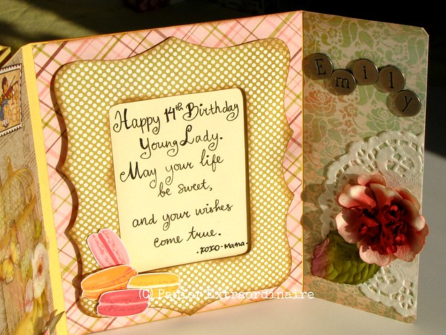 Spring theme birthday card (3)